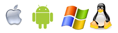 Filopto works with Microsoft, Apple, Android and Linux
