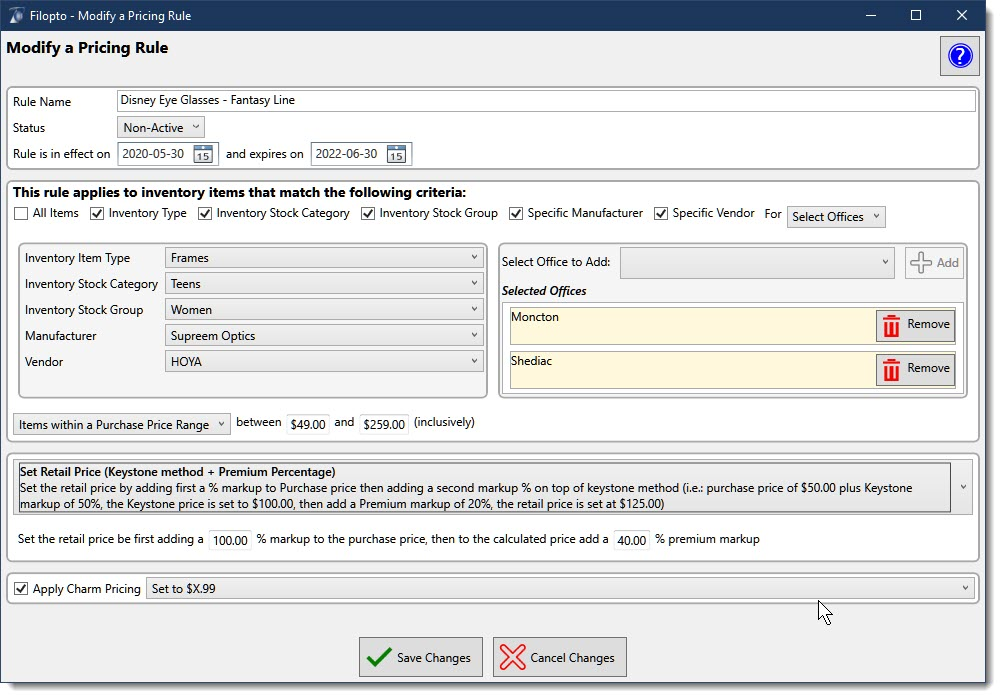Filopto Inventory Pricing Manager makes managing your Inventory simple